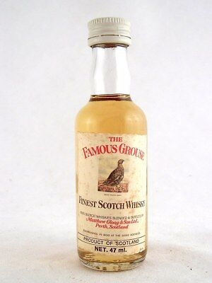 Miniature @ 1978 THE FAMOUS GROUSE Scotch Whisky Isle of Wine