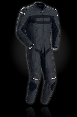 Cortech Latigo RR Leather 1 Piece Racing Suit Flat Black XXL US 46-48 EU 58