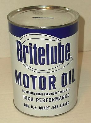 TOP-KIK MOTOR OIL 1960s VINTAGE QUART COIN BANK CAN FATHER/'S DAY GIFT NOS