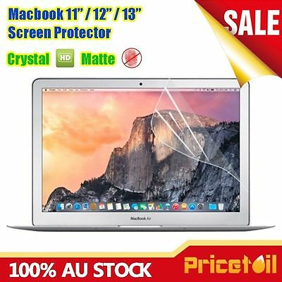 "Crystal Matte Screen Protector Film Skin For Apple Macbook Air Pro 11'' 12"" 13"""