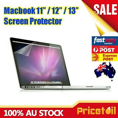 "OZ Clear Screen Protector Guard Film Cover For Macbook Air 13.3"" 13"" A1369 A1466"
