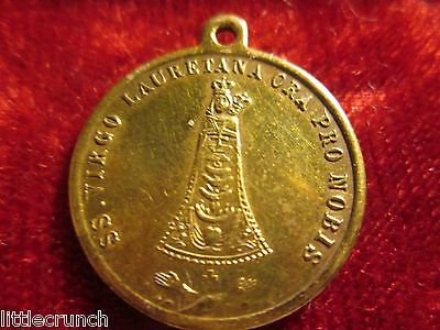 Vintage Stunning Antique Dated 1885 French Brass Medal Our Lady Of Loreto