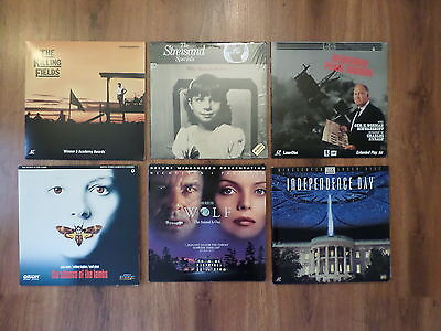 Lot Of 6 Laserdiscs - Killing Fields / Wolf / Independence Day / My Name Is.....
