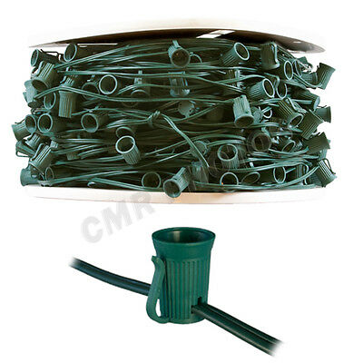 1000 foot 1,000-Socket Green C7 Christmas Light String Spool