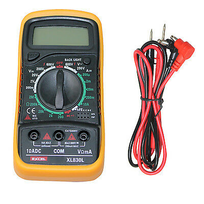 Digital LCD Multimeter Voltmeter Ammeter OHM AC DC Circuit Checker Tester Buzzer