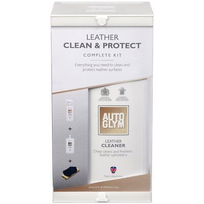Autoglym Car Care Leather Seat Clean And Protect Conditioner Complete Kit