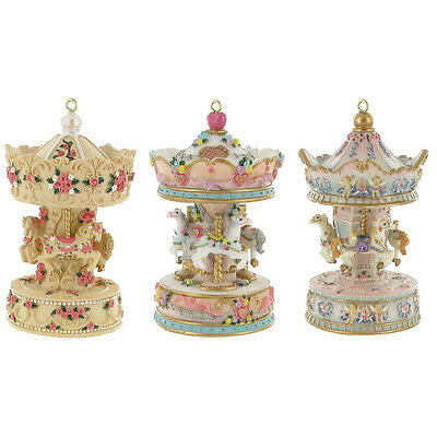 Beautiful Horse Carousel Musical Non Rotating Tune Princess Christmas 3 Colours