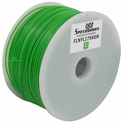 1.75mm 1kg Nylon Green Filament for 3D Printers