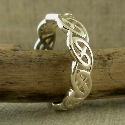 Sterling Silver Celtic Knot Wedding Ring KEITH JACK Various Sizes
