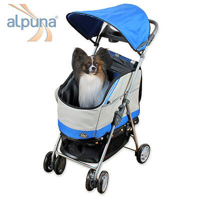 Dog + Cats Buggy PACCO in the Colour ROYAL BLUE with removable Bag