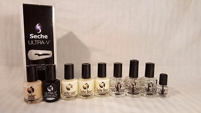 Seche Ultra-V Nail Gel Nail Polish Beauty Lot Complete with Light and Polishes