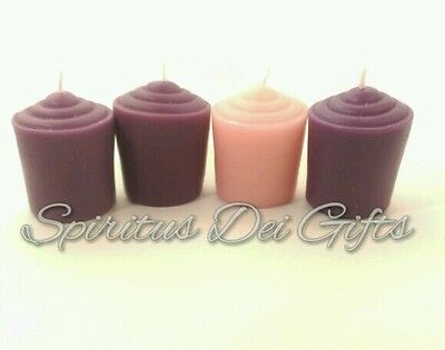 Advent Votive Candle Set for Wreath