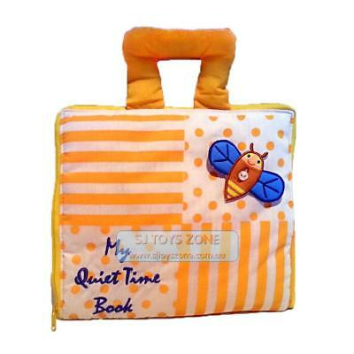 My Quiet Book Fabric Cloth My Quiet Book Yellow Striped Learning Activity Toy Gi