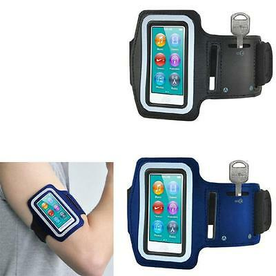New Exercis Sport Running Gym Armband Cover Case For iPod Nano 7th Gen Blue