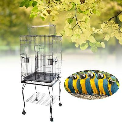 Bird Cage Pet Parrot Canary Cage Aviary With 4 Stand Wheel hight 146cm DE sales