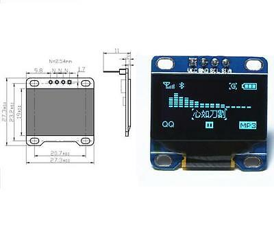 "5PCS Blue 0.96"" IIC I2C 128X64 OLED LCD Display Module Arduino/STM32/AVR/51 NEW"