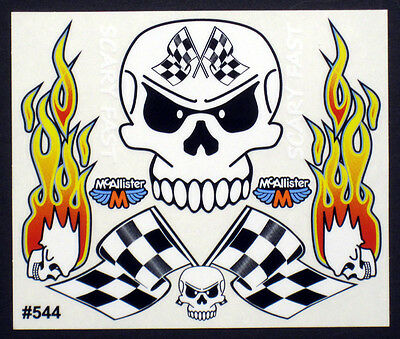 Scary Fast Skull Detail Decals for RC Cars, Late Models,Stock Cars,Dirt Oval#544