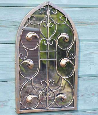 Large Wall Mirror Outdoor Arch Ornate Garden Outside 40cm X 24cm