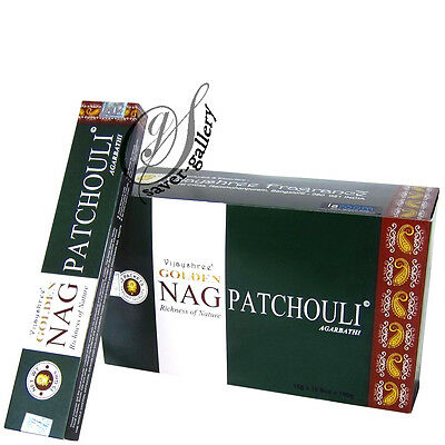 Golden Nag Patchouli Incense Sticks - 12 Packs - 3050