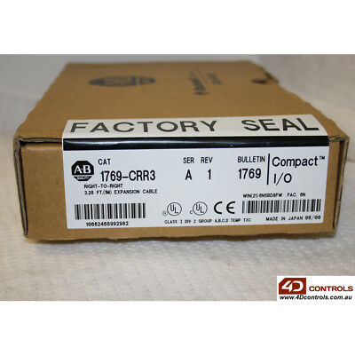 Allen-Bradley 1769-CRR3 Compact I/O Cable 1M - New Surplus Sealed - Series A