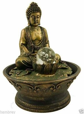 Thai Buddha Indoor Water Feature Fountain Resin New Age