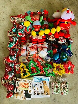5 ASSORTED  CHRISTMAS XMAS  TOYS TREATS PET PUPPY DOG DOGGY BARGAIN Bundle