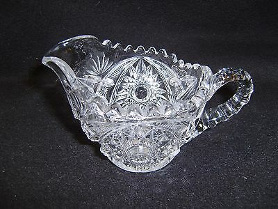 American Brilliant  Style Cut-Glass Creamer/Pitcher  MINT
