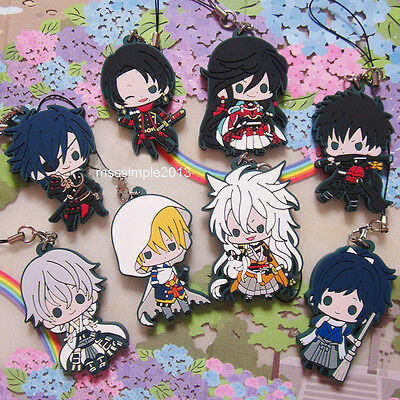 Touken Ranbu DMM Game Anime Rubber Strap Keychain Second Troops Limited Ver