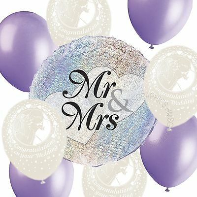Wedding Helium Balloons Venue Table Decorations White Lavender Party Pack