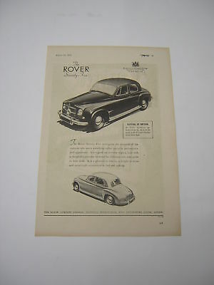 Rover 75 Advert from 1951 - Original Ad Advertisement
