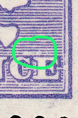 Kangaroo 1929 9d Violet  SMwmk, MH-MLH  Flaw above CE of PENCE • FREE POST •