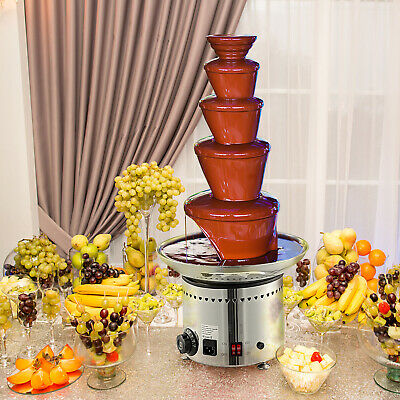 "Large New 5 Tiers Stainless Party Hotel Commercial 27"" 68cm Chocolate Fountain"