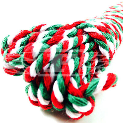 10m CANDY CANE RED WHITE GREEN CHUNKY CHRISTMAS BAKERS TWINE BUTCHERS STRING