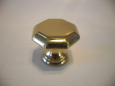 "Vintage NOS 1"" SOLID BRASS DRAWER KNOBS Cabinet Door Pulls Handles Amerock"