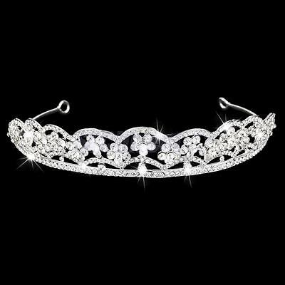 Crystal Flower Headband Wedding Bridal Bridesmaid Prom Tiara Crown Headpiece