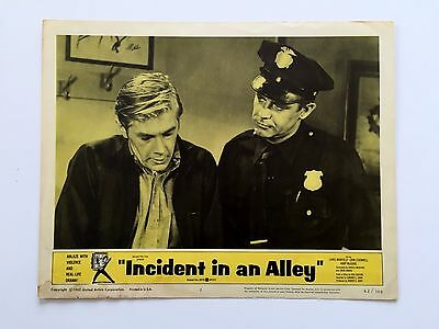 INCIDENT ALLEY (Good+) Lobby Card LC 1960 Movie Poster Teenage Crimewave 8102