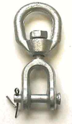 Galvanized Jaw/Eye Swivel, 1/2""