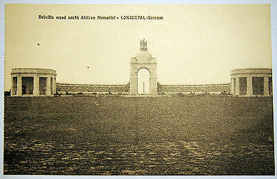 Postcard circa 1920's Delville Wood - South African Memorial - Longueval - Somme