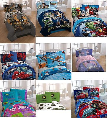 NWT Disney Boys & Girls 4 Pcs Twin Comforter Quilt & Sheet Set Official Licensed