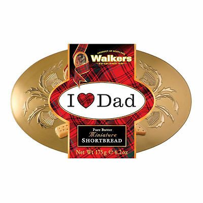 Walkers Shortbread Oval Gold Shortbread Tin Scottish Cookies Biscuits 175g Box