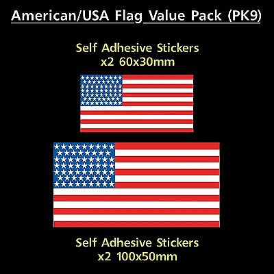 USA / America Flag Sticker Decals - Value Pack! - Van, Car, Truck, Motorhome
