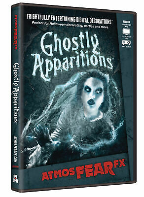 Ghostly Apparitions AtmosFearFX DVD Halloween Window Digital Decor AtmosFear