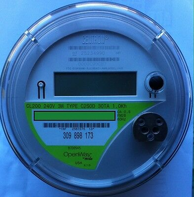 ITRON, WATTHOUR METER KWH C2SOD, OpenWay, 4 LUGS, 240V, 200A, FM2S, 3W, SMART