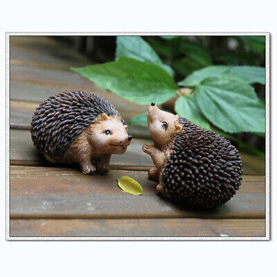 One Pair Vivid Resin Hedgehog 5CM Home Room Decor Kids Favour Toy Ideal Gift