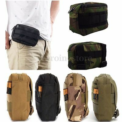 Tactical Travel Molle Military Fanny Pack Waist Belt Bag Pouch Outdoor Hiking