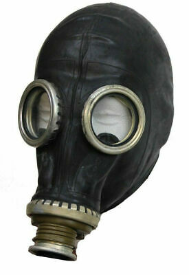 Russian Army Gp5 Black Gas Mask With Hose & Bag