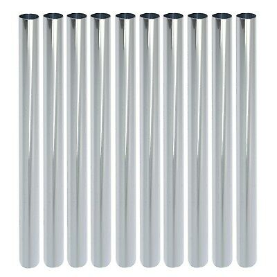 10x EXTRA LONG CHROME RADIATOR PIPE 15mm COVERS +SNAP ON FITTING+ Radsnap Sleeve