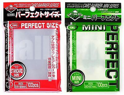 KMC 100 BUSTINE PERFECT SIZE SLEEVES STANDARD 64x89 Magic & MINI 60x87 Yugioh