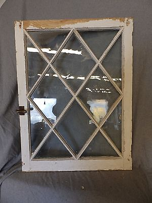 Antique Casement Window Sash Diamond Cabinet Door Shabby Cottage Chic 4990-15