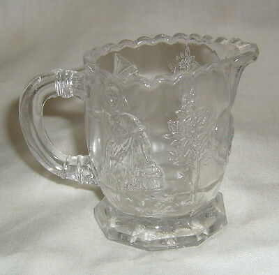 Antique Eapg Childs Cambridge Lechlers Ts38 Nursery Rhyme Creamer Milk Pitcher